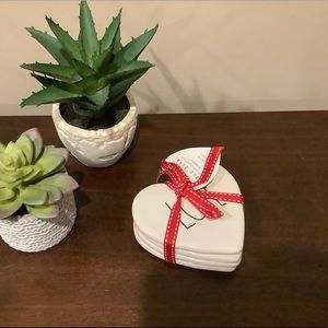 Set/4 Rae Dunn Heart Shaped Valentine's Coasters